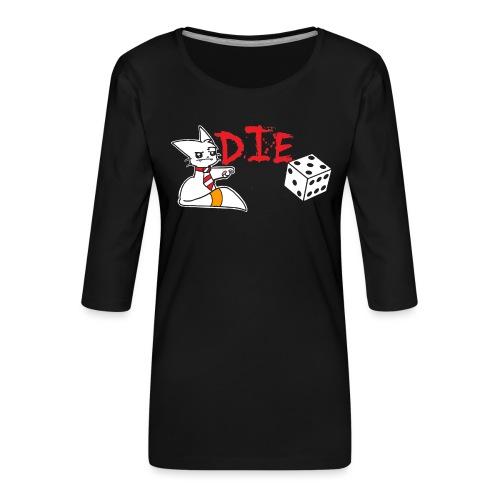DIE - Women's Premium 3/4-Sleeve T-Shirt