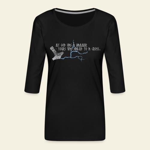 mjlner - Dame Premium shirt med 3/4-ærmer