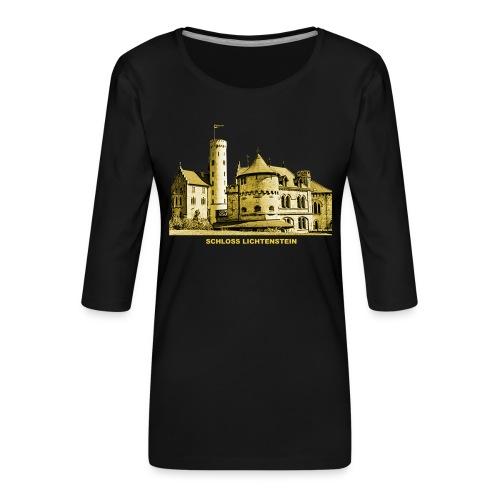 Lichtenstein Schloss Honau Baden-Württemberg - Frauen Premium 3/4-Arm Shirt
