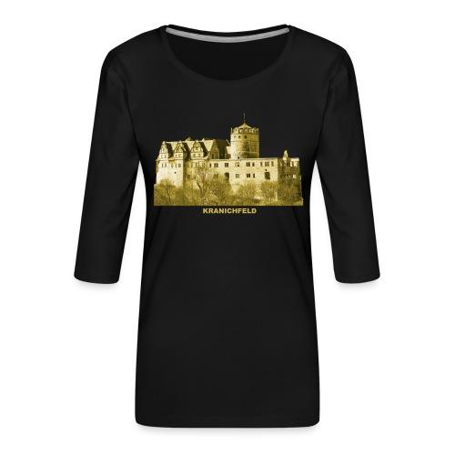 Kranichfeld Schloss Oberschloss Thüringen - Frauen Premium 3/4-Arm Shirt