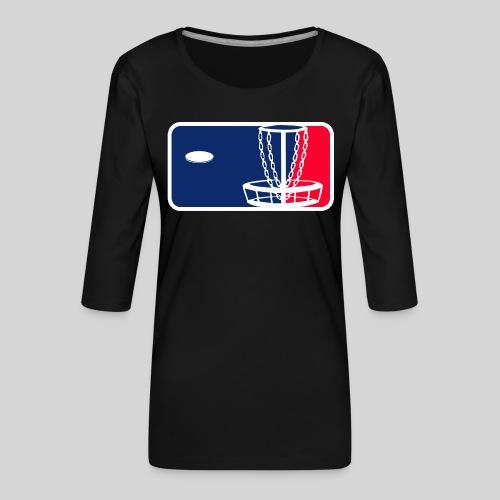 Major League Frisbeegolf - Naisten premium 3/4-hihainen paita