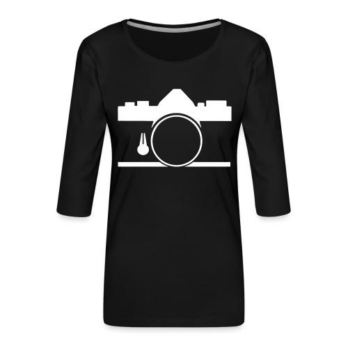 Vintage camera OM film slr - Maglietta da donna premium con manica a 3/4