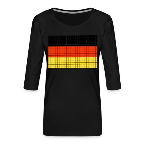 german flag.png - Maglietta da donna premium con manica a 3/4