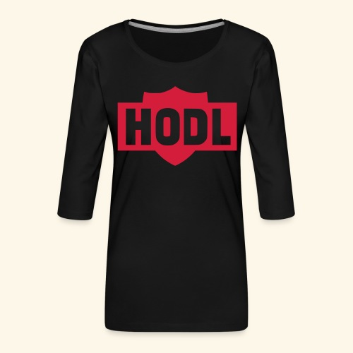HODL TO THE MOON - Naisten premium 3/4-hihainen paita