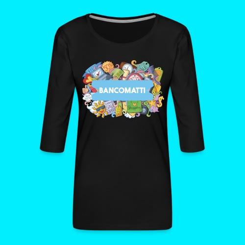 Bancomatti DOODLE 1 - Maglietta da donna premium con manica a 3/4