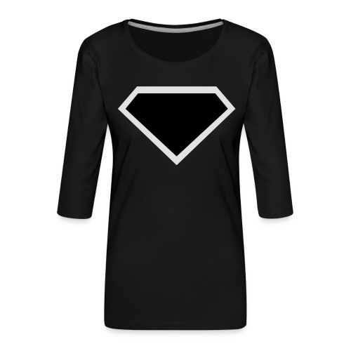 Diamond Black - Two colors customizable - Vrouwen premium shirt 3/4-mouw