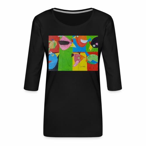 Lovebirds - Liebesvögel - Frauen Premium 3/4-Arm Shirt