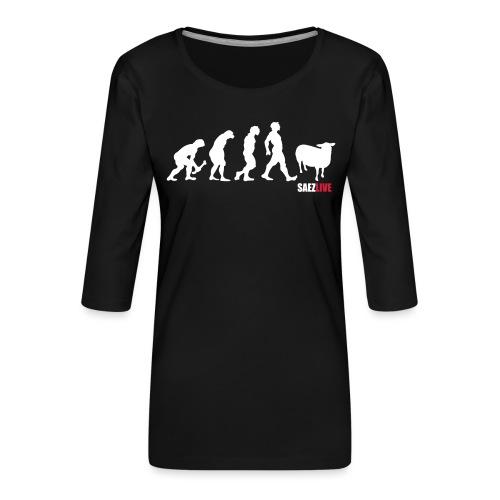 J'accuse (version light, par parek) - T-shirt Premium manches 3/4 Femme