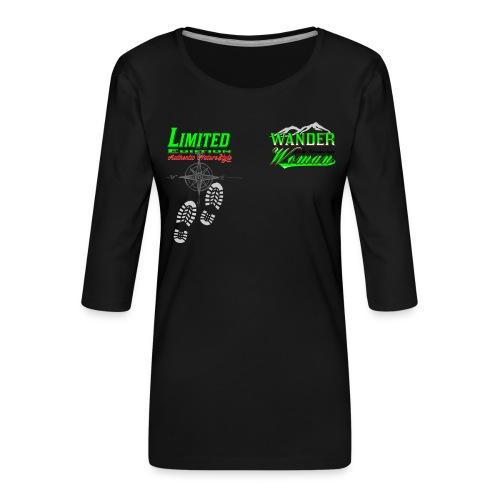 Wandern Limited Edition Wander Woman - Frauen Premium 3/4-Arm Shirt
