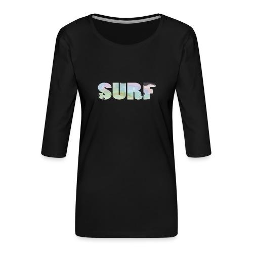 Surf summer beach T-shirt - Women's Premium 3/4-Sleeve T-Shirt