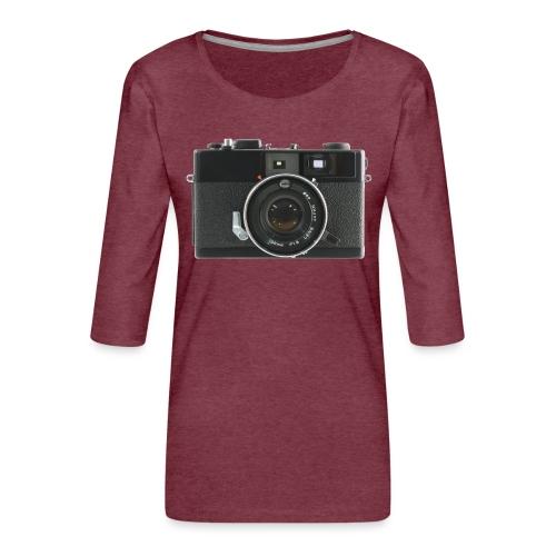Vintage Camera Auto S3 - Maglietta da donna premium con manica a 3/4