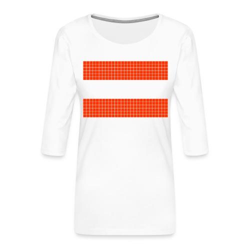 austrian flag - Maglietta da donna premium con manica a 3/4