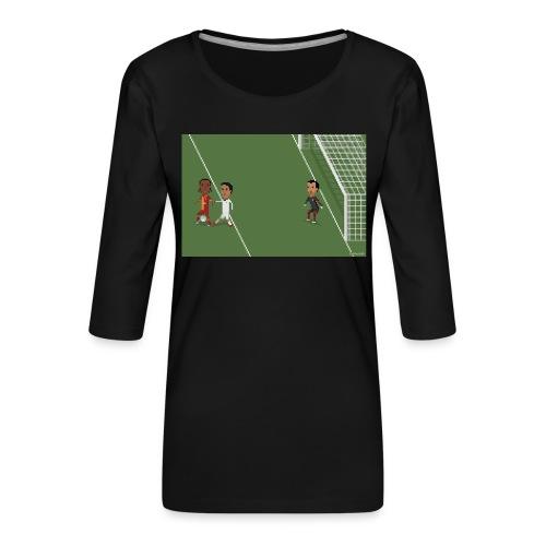 Backheel goal BG - Women's Premium 3/4-Sleeve T-Shirt