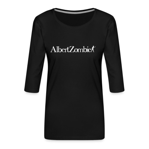Albert Zombie White - T-shirt Premium manches 3/4 Femme