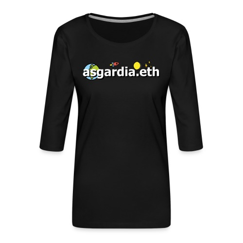 asgardia.eth - Frauen Premium 3/4-Arm Shirt