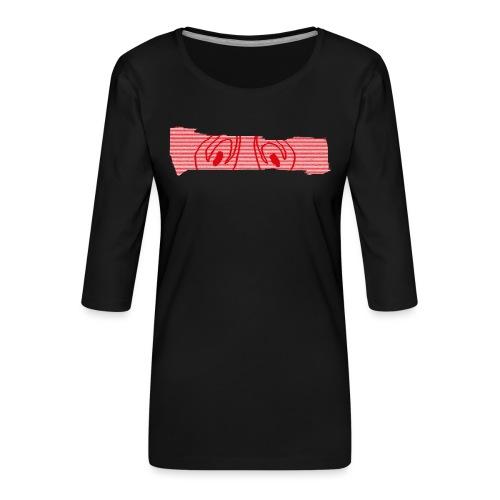 abderyckie linie - Koszulka damska Premium z rękawem 3/4