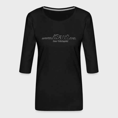 iSauf-Schriftzug - Frauen Premium 3/4-Arm Shirt