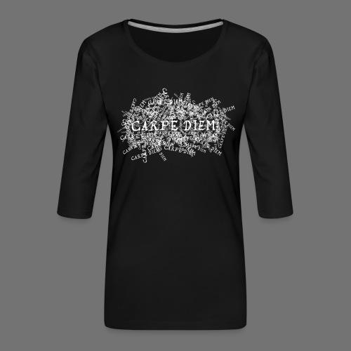 carpe diem (biały) - Koszulka damska Premium z rękawem 3/4