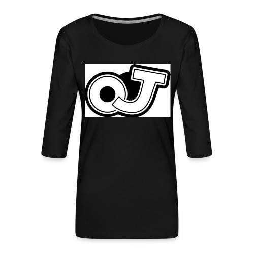 OJ_logo - Vrouwen premium shirt 3/4-mouw