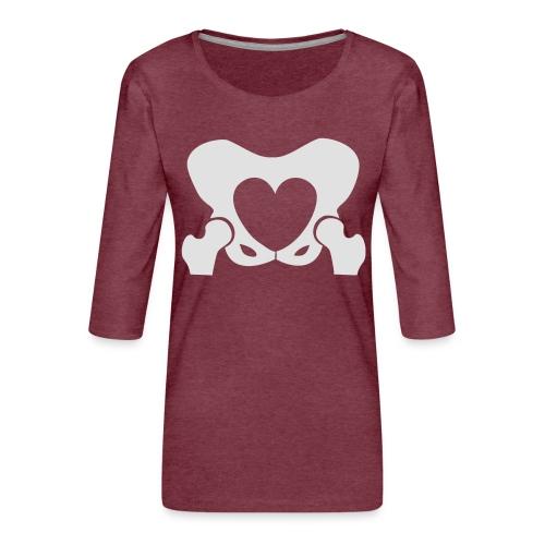 Love Your Hips Logo - Women's Premium 3/4-Sleeve T-Shirt