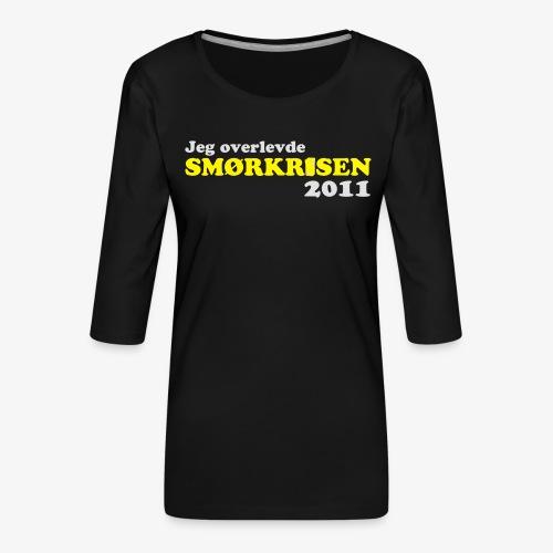Smørkrise 2011 - Norsk - Premium T-skjorte med 3/4 erme for kvinner