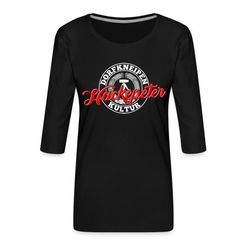 Hackepeter - Frauen Premium 3/4-Arm Shirt