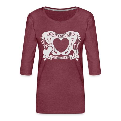 Hip Dysplasia Awareness - Women's Premium 3/4-Sleeve T-Shirt
