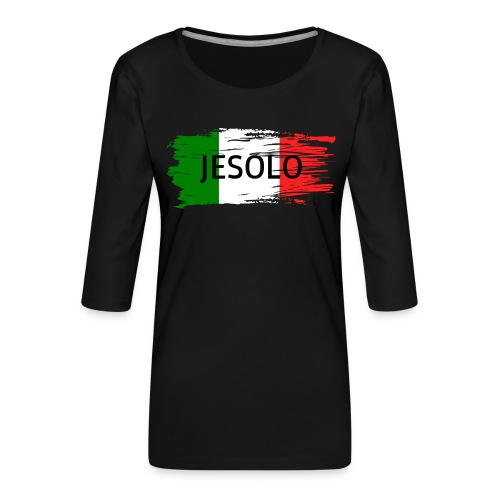 Jesolo auf Flagge - Frauen Premium 3/4-Arm Shirt