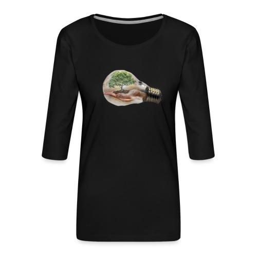 Baum und fliege in einer Glühbirne Geschenkidee - Frauen Premium 3/4-Arm Shirt