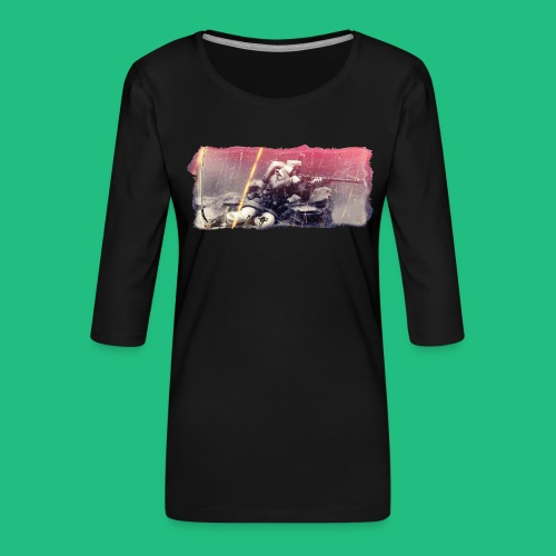 tireur couche - T-shirt Premium manches 3/4 Femme