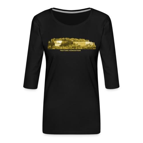 Königstein Festung Elbsandsteingebirge Sachsen - Frauen Premium 3/4-Arm Shirt