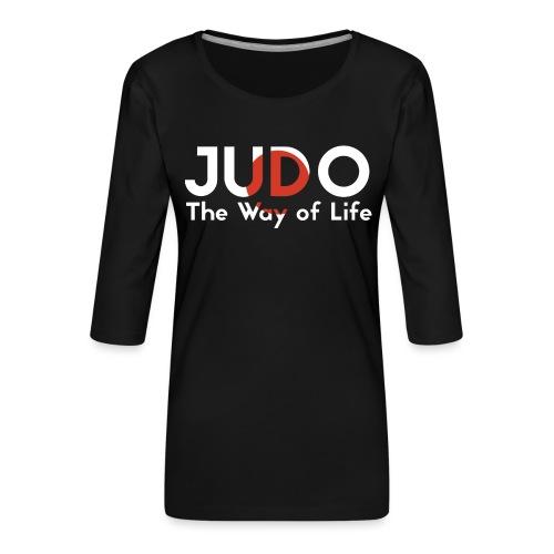 judo the way of life - Koszulka damska Premium z rękawem 3/4