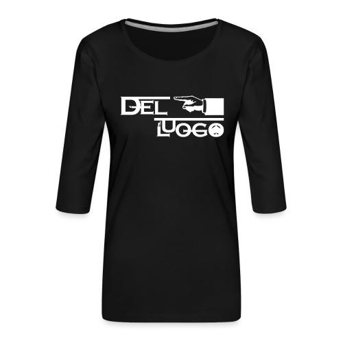HOODIE DEL LUOGO (NERO,GRIGIO,ROSSO) - Women's Premium 3/4-Sleeve T-Shirt
