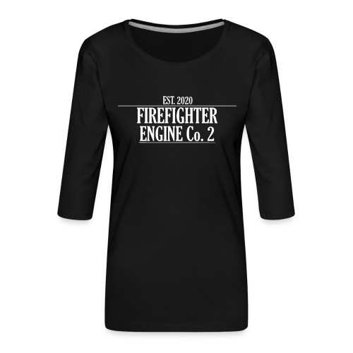 Firefighter ENGINE Co 2 - Dame Premium shirt med 3/4-ærmer