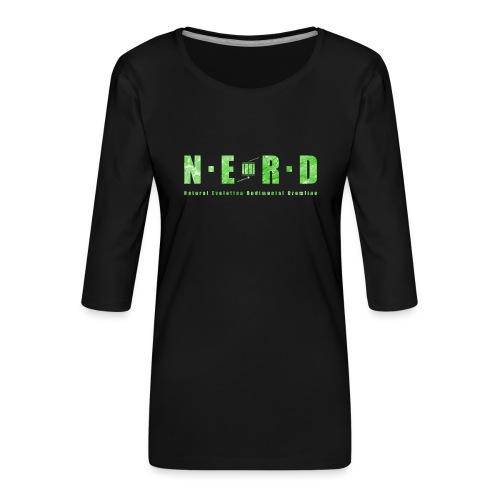 NERD Green - Dame Premium shirt med 3/4-ærmer