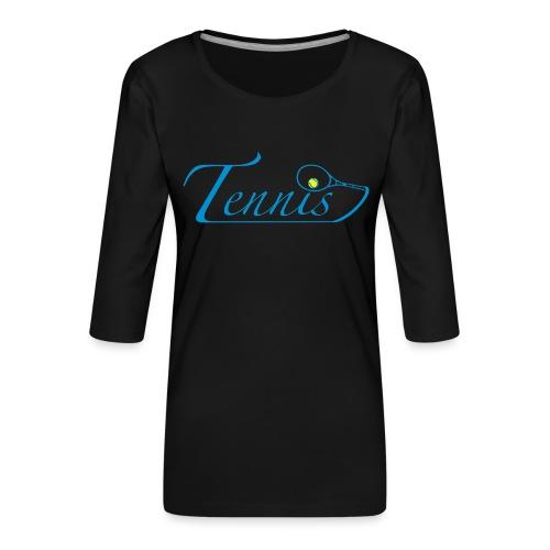 tennis - T-shirt Premium manches 3/4 Femme