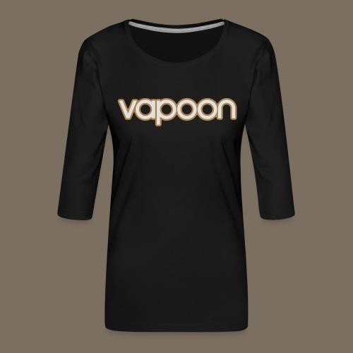Vapoon Logo simpel 2 Farb - Frauen Premium 3/4-Arm Shirt
