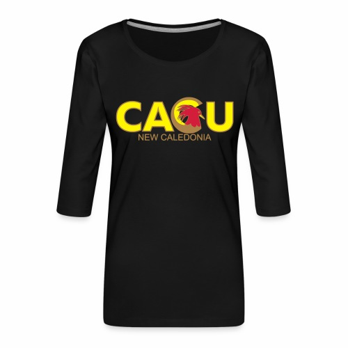 Cagu New Caldeonia - T-shirt Premium manches 3/4 Femme