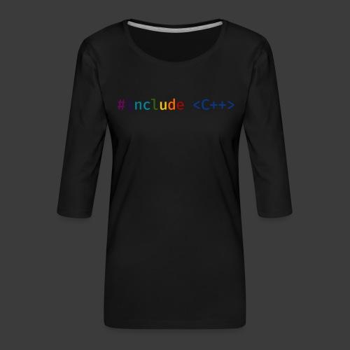 Rainbow Include - Women's Premium 3/4-Sleeve T-Shirt