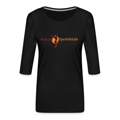 Kaisan Sporttiklubi logo - Naisten premium 3/4-hihainen paita