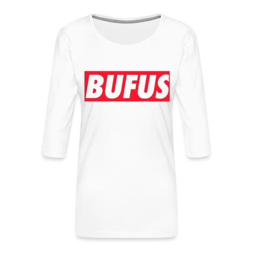 BUFUS - Maglietta da donna premium con manica a 3/4