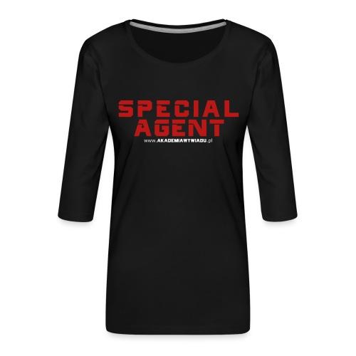 Emblemat Special Agent marki Akademia Wywiadu™ - Koszulka damska Premium z rękawem 3/4