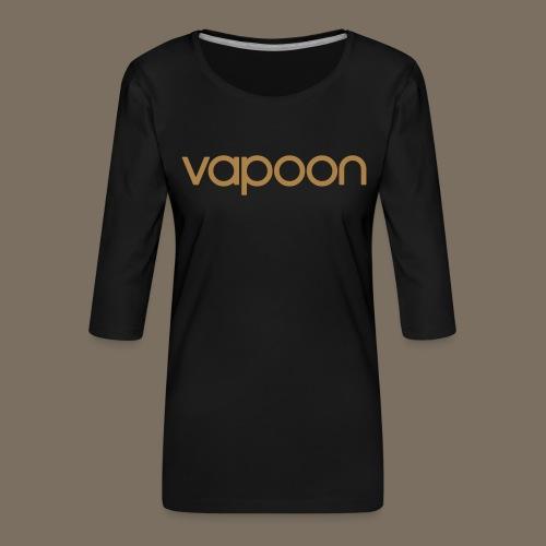 Vapoon Logo simpel 01 - Frauen Premium 3/4-Arm Shirt