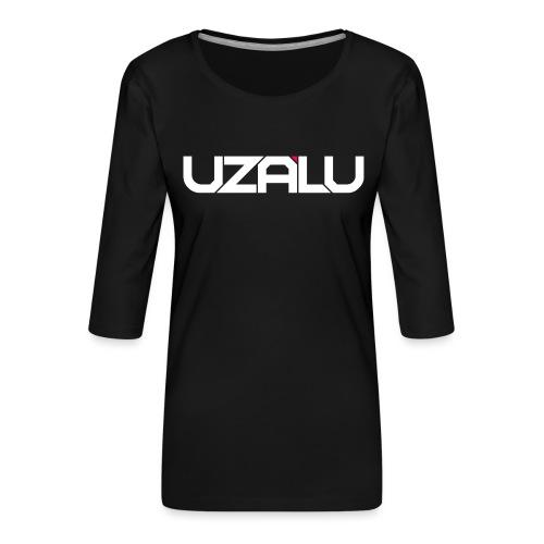 uzalu Text Logo - Women's Premium 3/4-Sleeve T-Shirt