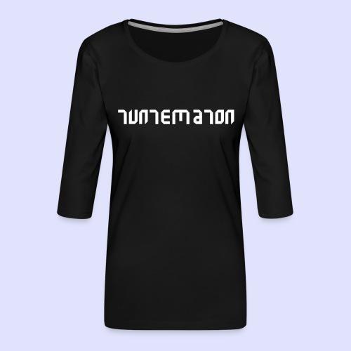 Teippilogo - Naisten premium 3/4-hihainen paita