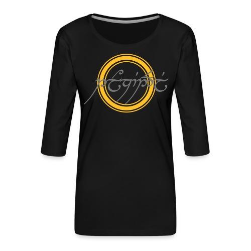 Tolkiendil en tengwar (écusson & dos) - T-shirt Premium manches 3/4 Femme