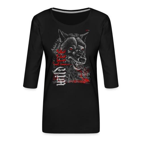 WILDFREE   WOLF - Frauen Premium 3/4-Arm Shirt