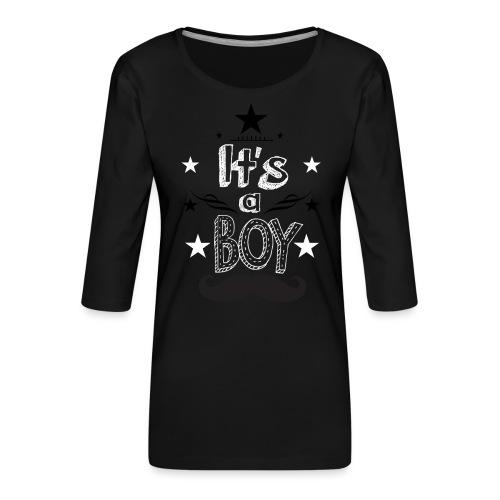 Tshirt Femme Enceinte grossesse tee shirt - T-shirt Premium manches 3/4 Femme