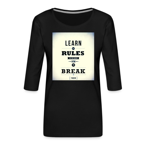 RULES - Vrouwen premium shirt 3/4-mouw