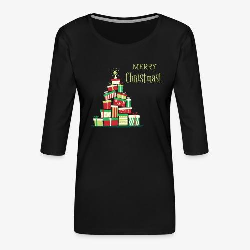 Cadeaux - Merry Christmas - T-shirt Premium manches 3/4 Femme